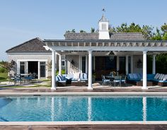 Pool House Attached to House | ... overdone pool house which is attached to the main house, Kim Coleman