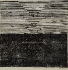 Tecelar, 1956 Woodcut print on Japanese paper Print: 24.1 x 24.1 cm / 9 1/2 x 9 1/2 in Paper: 44.7 x 32.5 cm / 17 5/8 x 12 3/4 in  © Projeto Lygia Pape  Courtesy Projeto Lygia Pape and Hauser & Wirth  Photo: Paula Pape