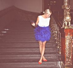 feathered skirt