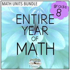 Our buyers are loving this bundle which covers the ALL UNITS of the of the grade 8 Ontario math curriculum. It contains activities that require students to use and develop their Knowledge, Application, Thinking, and Communication skills in a way that will prepare them for success in grade 9. #grade8 #math #numbersense #measurement #patterning #algebra #geometry #datamanagement #probability #mathunit #problemsolving #guided #reportcard #centres #lessonplans #unitplans #studyguide #mathtest