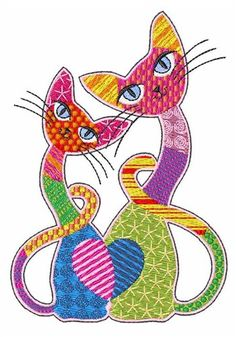 patch cats embroidery design - Bakers Gonna Bake Kitchen Redwork Embroidery Designs