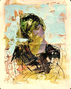 "Imprint No. 23 by John Wentz Oil ~ 8.25"" x 5"""