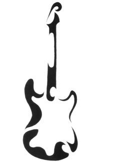 This is a tattoo design that I did for my girlfriend's younger brother. He wanted a guitar done on his arm. My girlfriend went to a tattoo artist w. Music Drawings, Music Artwork, Cute Drawings, Guitar Drawing, Guitar Art, Trendy Tattoos, Tribal Tattoos, Cross Tattoos, Tatouage Rock And Roll