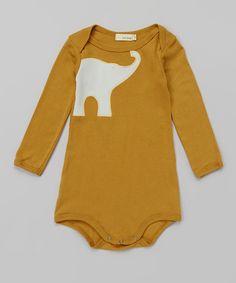 Brown Elephant Organic Bodysuit - Infant
