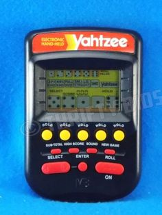 Yahtzee-Electronic-Handheld-Game-Black-1995-MB-Milton-Bradley-Tested-FreeShip