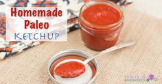 Easy Homemade Ketchup (Paleo, No Sweetener Added) - Holistically Engineered - Used 2 Tbsp of ACV and added 1 extra Tbsp of water to thin it more. Free Paleo Recipes, Low Carb Recipes, Real Food Recipes, Cooking Recipes, Healthy Recipes, Paleo Ketchup, Homemade Ketchup, Paleo Sauces, Low Carb Sauces