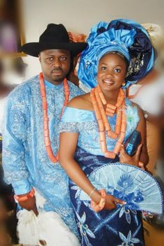 Nigerian traditional wedding ceremony Niger Delta Couple