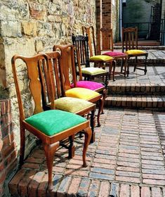 Floor Protectors For Chairs Code: 8736265011 Antique Dining Chairs, Fabric Dining Chairs, Old Chairs, Chair Fabric, Dining Table Chairs, Reupholster Dining Room Chairs, Patterned Dining Chairs, Mismatched Dining Chairs, Vintage Dining Chairs