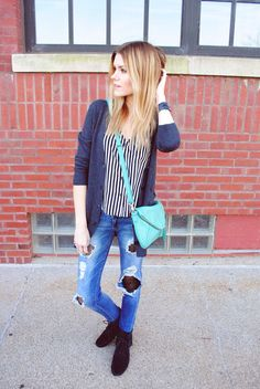 How to Wear Tights Under Ripped Jeans | StyleCaster