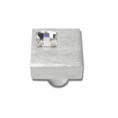 Atlas Homewares Pave & Crystal Collection Square Off Center Crystal Cabinet Knob