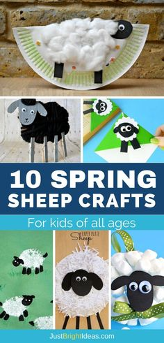 Whether you're looking for projects to celebrate Spring or Easter your child is going to have a lot of fun with these adorable sheep crafts for kids of all ages!