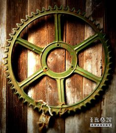 Large Antique Industrial Gear, Vintage Cast Iron Metal Wheel Decorative. $699.00, via Etsy.