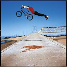 #BMX rider performing a superman