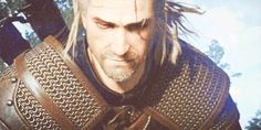Geralt of Rivia smiling....
