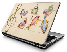 Laptop Decals - Laptop Skins - Laptop Stickers - Laptop Vinyl - Birds (colorful)