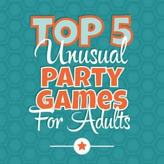 If you're looking for unique and unusual party games that your guests have probably never played before, try these ideas!
