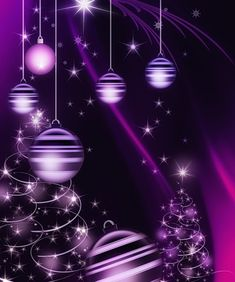 couleur violet - Page 2 3d Christmas, Purple Christmas, Christmas Clipart, Christmas Pictures, Beautiful Christmas, Christmas Decorations, Christmas Phone Wallpaper, Winter Wallpaper, Holiday Wallpaper