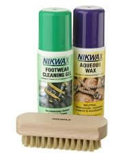 Nikwax Leather Care Kit Nikwax Leather Care Kit for leather footwear contains Footwear Cleaining Gel (125ml), Aqueous Wax Neutral (125ml) and cleaining brush (Barcode EAN=5020716060001) http://www.MightGet.com/january-2017-13/nikwax-leather-care-kit.asp