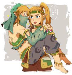 Gerudo (vai) Link and Gerudo (voe) Zelda!!