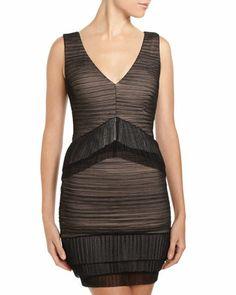 Sven Shirred Mesh Dress by BCBGMAXAZRIA at Neiman Marcus Last Call.