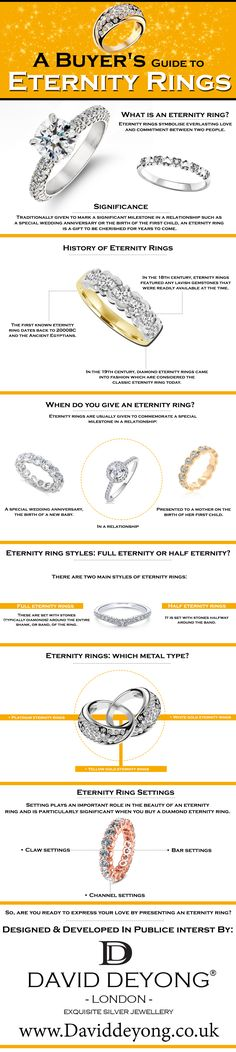 Eternity rings symbolise everlasting love and commitment between two people. Eternity Rings, Everlasting Love, Jewelry Branding, Sterling Silver Jewelry, Women Jewelry, David, People, Leather, Folk
