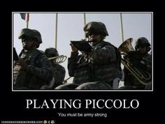 You also must be pretty strong to be playing a wood piccolo outside....here's to hoping it is plastic!