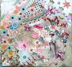 Crazy Quilting and  Embroidery Blog by PAMELA KELLOGG of KITTY and ME Designs: Winter Lady Crazy Quilt Purse - Stitching Complete...