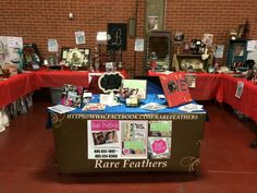 Our booth at a vintage Fleamarket indoor show