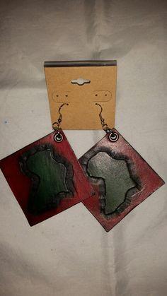 3 x  3 leather earrings