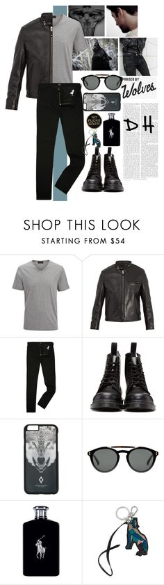 """""""Derek Hale"""" by iamjustamayfly ❤ liked on Polyvore featuring Sirius, Joseph, Schott NYC, Lee, Dr. Martens, County Of Milan, Gucci, Ralph Lauren, Etro and men's fashion"""