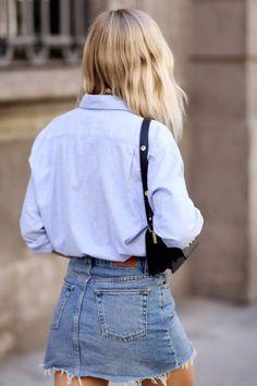 The New Staple: Denim Skirts