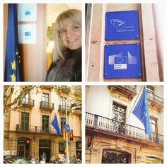 Reunion en la comision Europea de Barcelona.