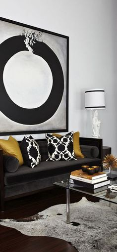 Atmosphere Interior Design , black and gold decoration, room decor ideas @bykoket