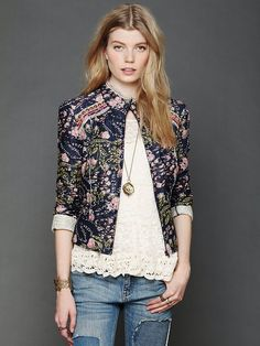 Free People Beads and Branches Jacket at Free People Clothing Boutique