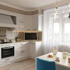 Интерьер квартиры в стиле легкой классики, ЖК «Академ-Парк», 68 кв.м.: Кухни в . Автор – Студия Павла Полынова