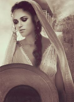Katie McGrath as Helen of Troy manip. She has that kind of ethereal beauty.