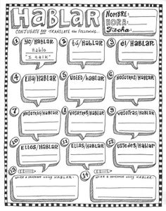 Regular Spanish verbs ~Conjugation ~Translation ~HABLAR ~No Prep Spanish Grammar, Spanish Vocabulary, Spanish Language Learning, Spanish Teacher, Spanish Music, Spanish Classroom Activities, Spanish Teaching Resources, Spanish Lessons, Learn Spanish