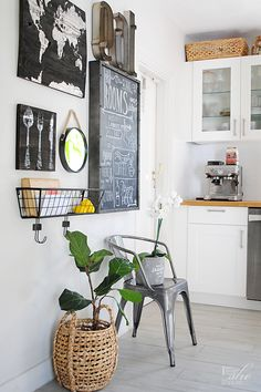 5 gallery wall ideas. Say goodbye to those blank spaces and hello to useful and beautiful display walls. I'm using the wall basket as a place where I can place my mail. @HomeGoods. (sponsor)