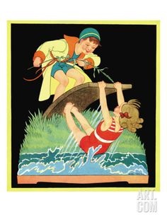 Summer Fun - Child Life, August 1931 Giclee Print by Hazel Frazee at Art.com