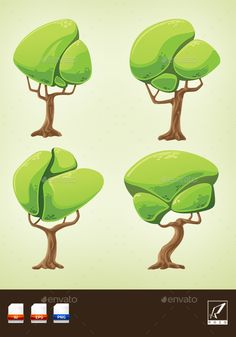 Cartoon Fantasy Trees Pack