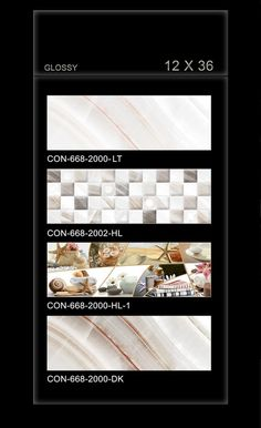 CON_668 - Millennium Tiles 300x900mm (12x36) Digital OCT Glossy Large Format Wall Ceramic Tiles  - CON_668_2000_LT  - CON_668_2002_HL  - CON_668_2000_HL1  - CON_668_2000_DK - HD Technology: High-definition technology (HDT) provides a resolution that is substantially higher that of standard-definition tiles. - Digital Technology: For details, Digital printing technology in ceramic tiles enables us to print anything and everything onto the tiles with unlimited & everlasting colours. Feel…