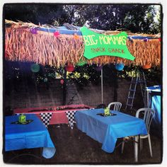 Big Momma's came out awesome!  I wish I could have made the balloon palm trees wrapped in Xmas lights in each side of the entrance.  All in all Teen Beach Movie Party rocked!