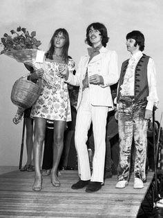 Jane Birkin, George Harrison et Ringo Starr - Cannes 1968 Ringo Starr, George Harrison, Gainsbourg Birkin, Serge Gainsbourg, Anita Pallenberg, Pattie Boyd, Sean Penn, Keith Richards, Eric Clapton