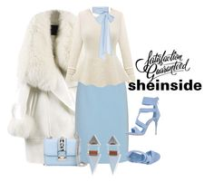 """""""shein"""" by kim-coffey-harlow ❤ liked on Polyvore featuring WithChic, Miu Miu, MDS Stripes, Le Silla, Valentino and Wolf & Moon"""