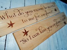 "Beach Wedding signs Beach House Decor Valentine's Day!  This set is ready to ship!  ""Sweet Home Alabama"" quote signs."