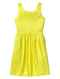 gap kids yellow lace dress great for summer I love this color!