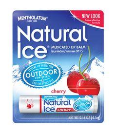 Mentholatum Natural Ice Cherry SPF 15 lip balm for $1.49.