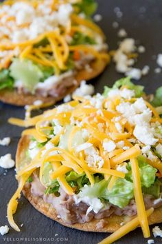 Crunchy 10 Minute Oven Baked Tostadas take minutes to make and are better for yo… Crunchy 10 Minute Oven Baked Tostadas take minutes to make and are better for you than frying. Easy meal any night of the week and perfect for Cinco de Mayo! no meat meals Veggie Recipes, Mexican Food Recipes, Cooking Recipes, Healthy Recipes, Recipes Dinner, Tostada Recipes, Cooking Rice, Meatless Dinner Ideas, Good Vegetarian Recipes