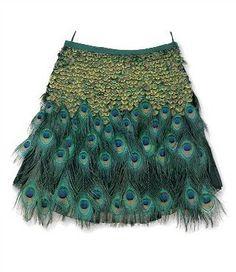 prada peacock skirt!