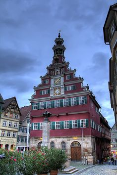 Esslingen Town Hall - Make sure you listen to the glockenspiel at noon, 3 pm, 6 pm or 7:30 pm #Germany